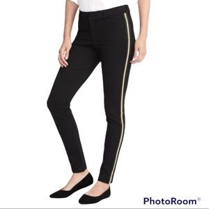 Old Navy Pixie Pant Black With Gold Racer Stripe